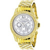 Luxurman Mens Diamond Watches: Raptor Yellow Gold Plated Watch 0.5ct