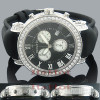Mens Diamond Benny and Company Watch 6ct Black