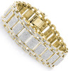 Mens Iced Out Pave Diamond Bubble Bracelet 7ct 10k or 14k Gold
