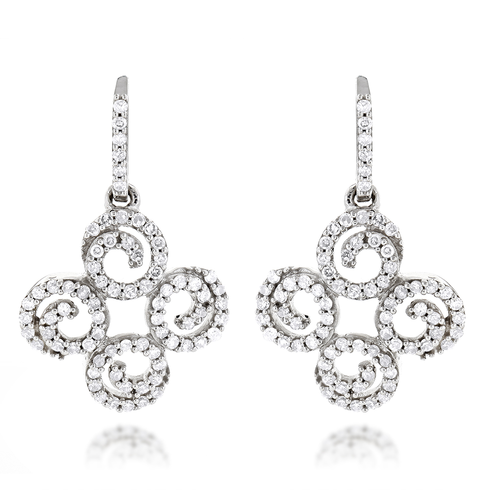 Dangle Diamond Earrings 0.54ct 14K Gold