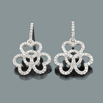 Dangling Diamond Heart Earrings 0.52ct 14K Gold dangling-diamond-heart-earrings-052ct-14k-gold_1