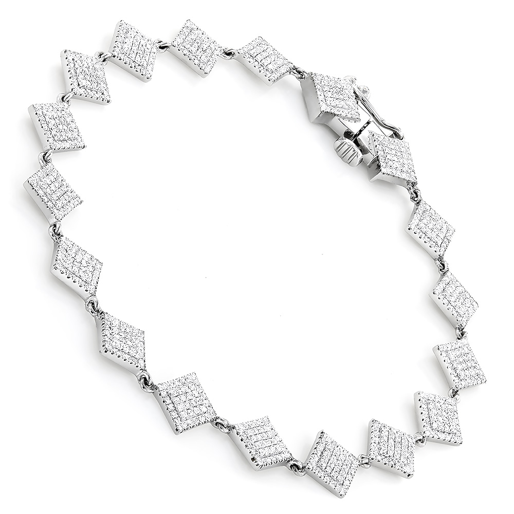 Delicate Diamond Bracelet For Women in 14K Gold White Image