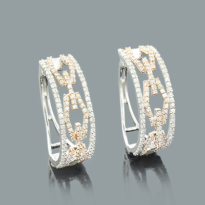 69b2a60126c Designer Cutout Diamond Hoop Earrings 0.82ct 14K Gold Main Image
