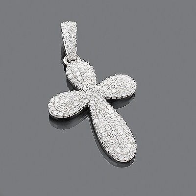 Designer Diamond Cross Pendant 14K 0.63ct Main Image