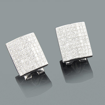 Designer Diamond Earrings 2.94ct 14K Gold Main Image