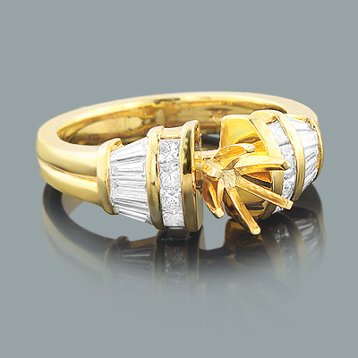 Designer Diamond Engagement Ring Setting 0.78ct 18K Gold designer-diamond-engagement-ring-setting-078ct-18k-gold_1