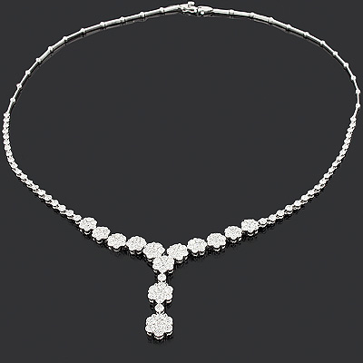 Designer Diamond Flower Necklace 7.10ct Cluster Jewelry designer-diamond-flower-necklace-710ct-cluster-jewelry_1
