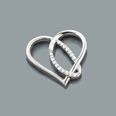 Designer Diamond Heart Pendant 0.12ct 10K Gold designer-diamond-heart-pendant-012ct-10k-gold_1