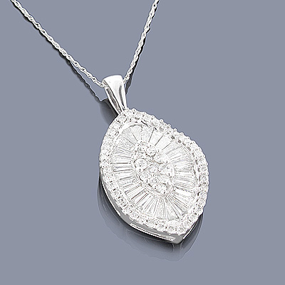 Designer Diamond Jewelry: 14K Diamond Pendant 2.19 Main Image