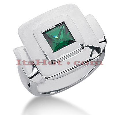 Designer Emerald Ring in 14K Gold 1.25cte Main Image