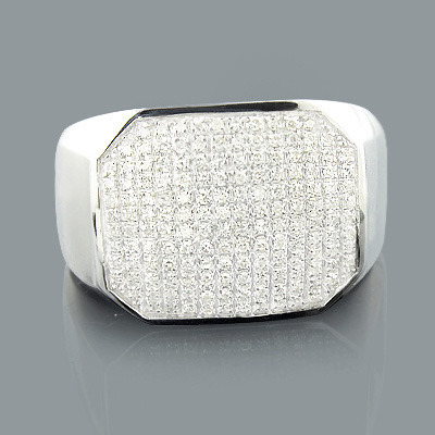 Designer Mens Diamond Ring 0.50ct 10K Gold Main Image