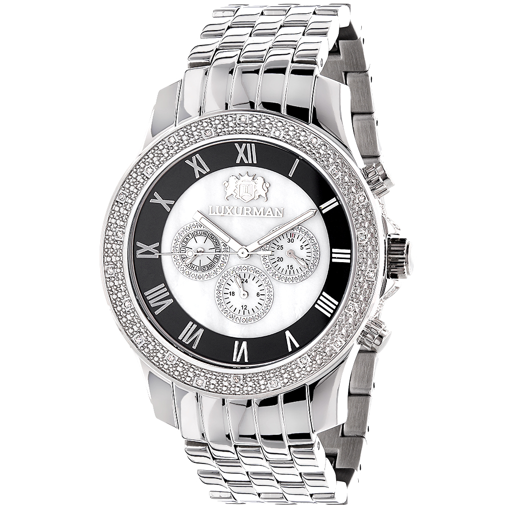 Designer Watches Luxurman Mens Diamond Watch 0.25ct Main Image