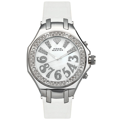 Diamond Aqua Master Watches Mens Diamond Watch 0.55ct