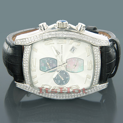 Diamond Aqua Master Watches Mens Diamond Watch 2.00ct Main Image