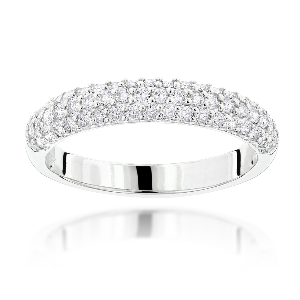gold band white baguette wedding round ring wide bands ct diamond eternity