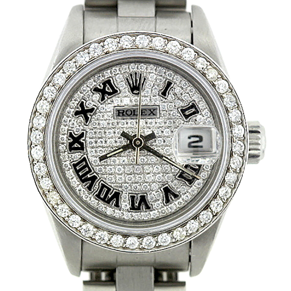 Diamond Bezel & Face Watches Rolex Datejust Ladies Diamond Watch 2.5ct Main Image