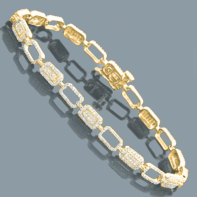 Diamond Bracelets 14K Gold Ladies Diamond Bracelet 1.93