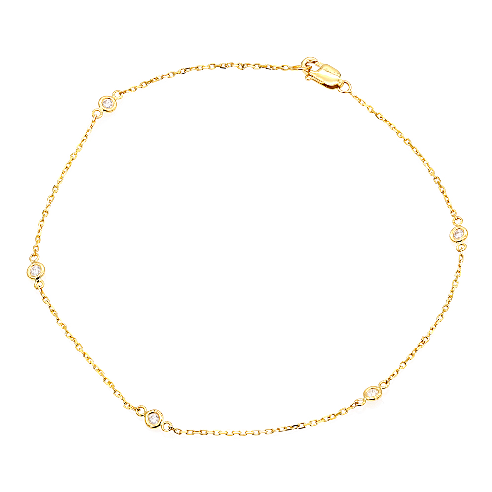 faithfulness gold pink bracelets truth crystals sapphire filled bracelet healing products anklet ankle sincerity