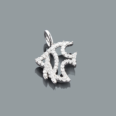 Diamond Charms: Cute Diamond Fish Pendant 0.17ct 10K Gold Main Image