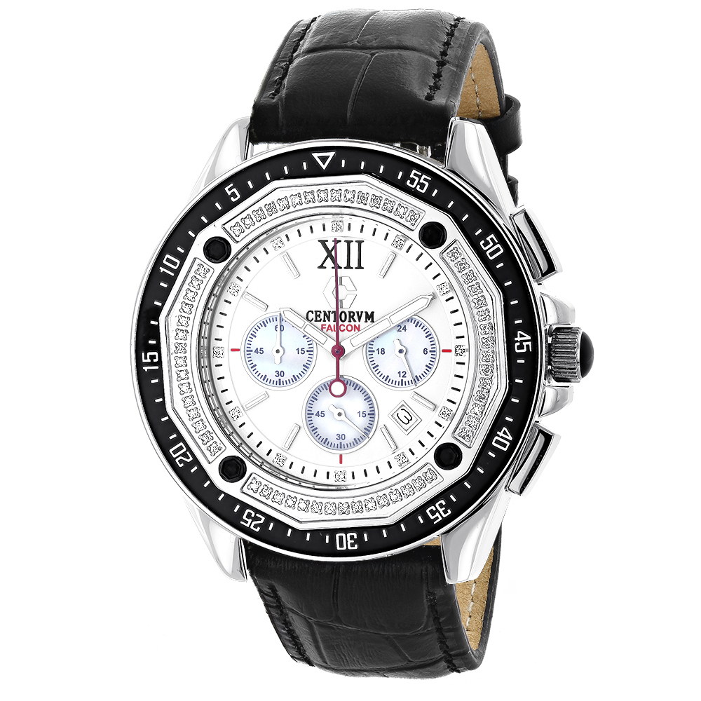 Diamond Chronograph Watch by Centorum Falcon 0.55ct Main Image