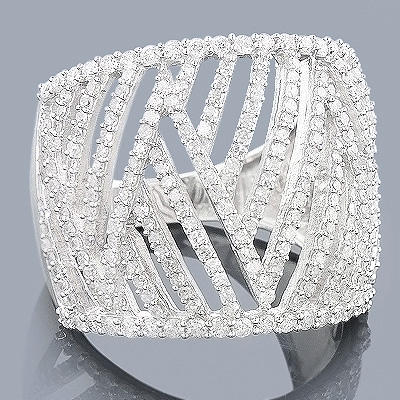 Diamond Cocktail Ring for Women in 14k Gold 1.25 Carats