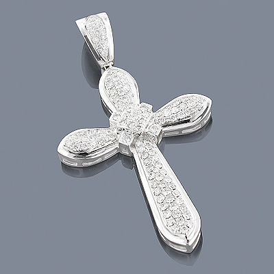 Diamond Cross Necklace 14K 1.78ct Main Image