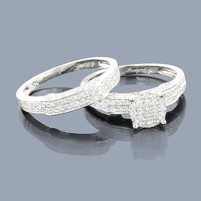 Diamond Engagement Ring Set 0.81ct 14K