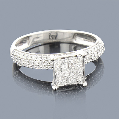 Diamond Engagement Rings 14K Pre-Set Diamond Ring .84ct Main Image