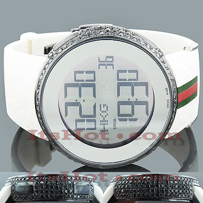 Diamond Gucci Watches Mens Luxury Watch 6ct Main Image