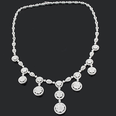 Diamond Necklace in 18K Gold 15.20ct Fine Jewelry Collection Main Image