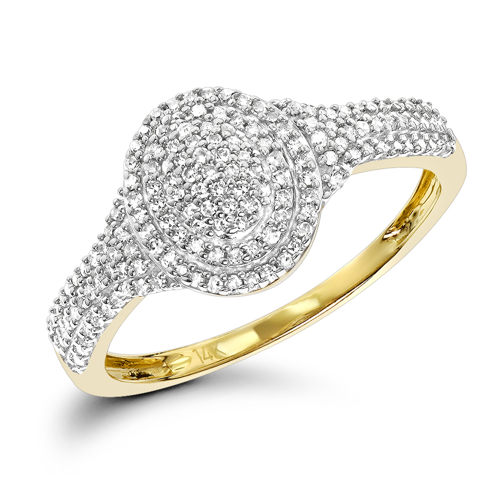 Diamond Oval Shaped Ring 14K Gold 0.33ct