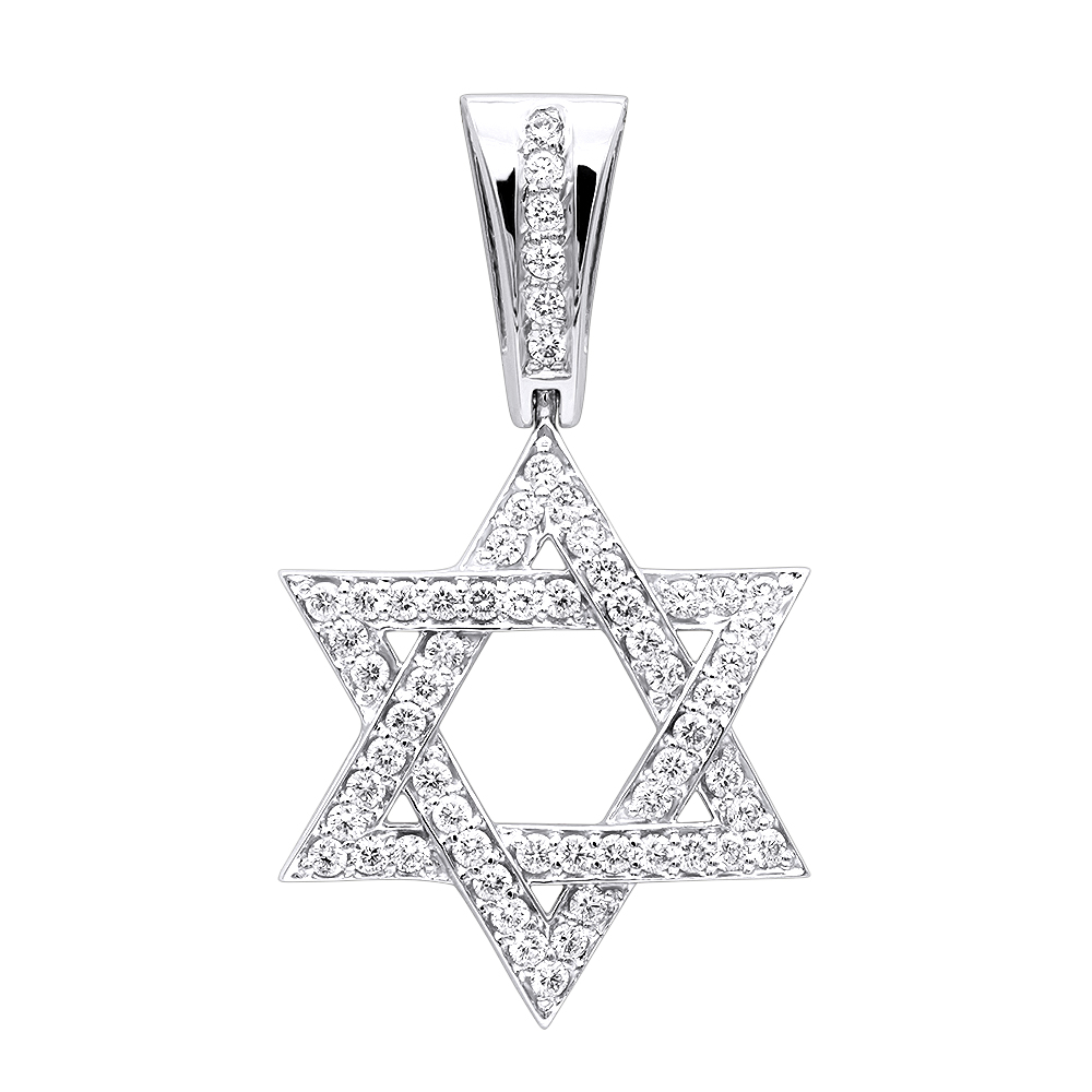 Diamond pendants 14k gold star of david pendant 144ct mozeypictures Gallery