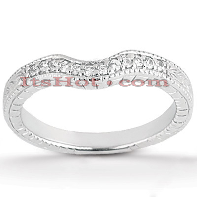 Thin Diamond Platinum Engagement Band 0.12ct Main Image