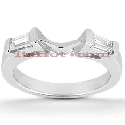 Thin Diamond Platinum Engagement Band 0.20ct Main Image
