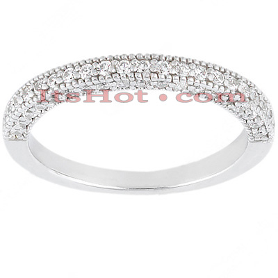 Thin Diamond Platinum Engagement Band 0.50ct Main Image
