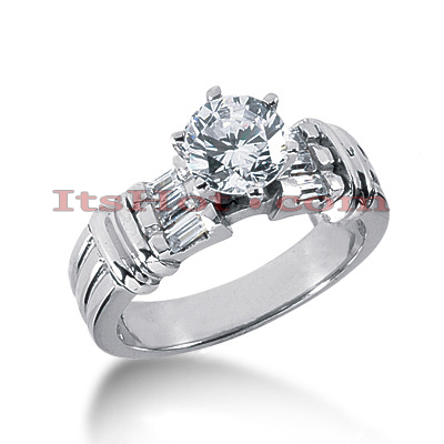 Diamond Platinum Engagement Ring 1.24ct Main Image