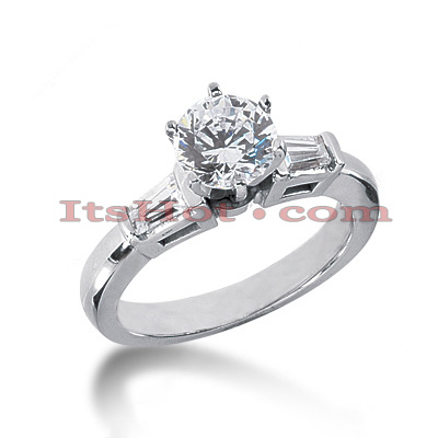 Diamond Platinum Engagement Ring 1.24ct 2.49mm Main Image