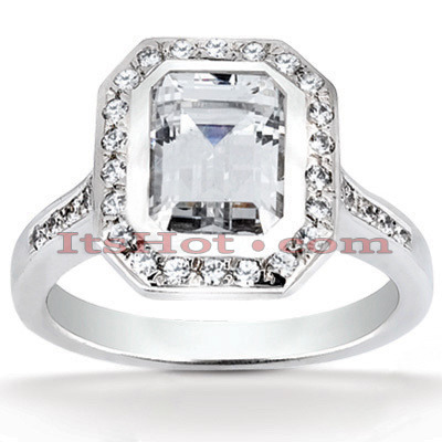 Diamond Platinum Engagement Ring 1.37ct Main Image