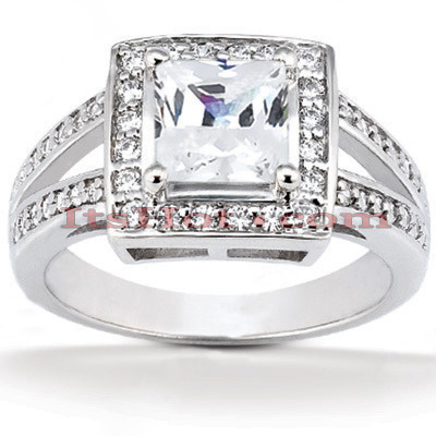 Diamond Platinum Engagement Ring 1.41ct Main Image