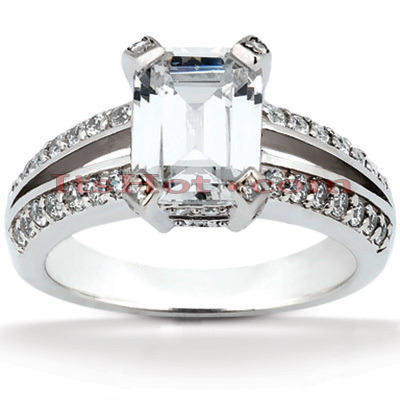 Diamond Platinum Engagement Ring 1.42ct Diamond Platinum Engagement Ring 1.42ct