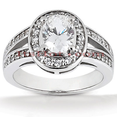 Diamond Platinum Engagement Ring 1.42ct 4mm Main Image