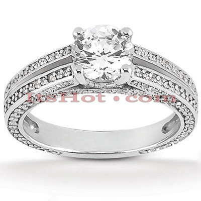 Diamond Platinum Engagement Ring 1.43ct Main Image