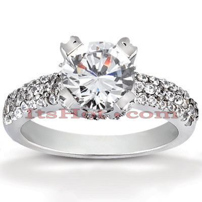 Diamond Platinum Engagement Ring 1.59ct Main Image