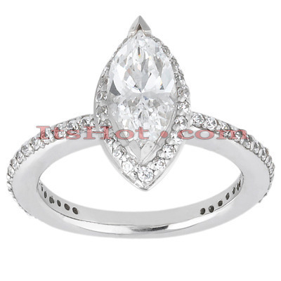 Diamond Platinum Engagement Ring 1.65ct Main Image