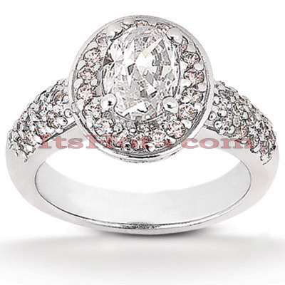 Diamond Platinum Engagement Ring 1.66ct Main Image