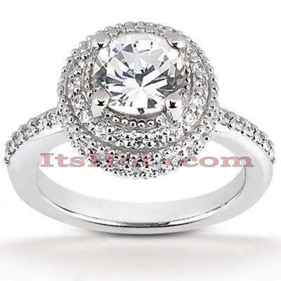 Diamond Platinum Engagement Ring 1.70ct Main Image