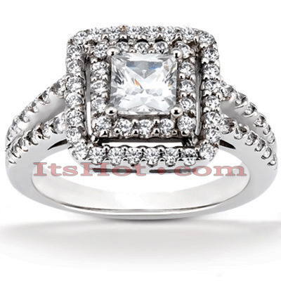 Diamond Platinum Engagement Ring 1.72ct Main Image