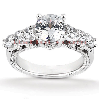 Diamond Platinum Engagement Ring 1.75ct Main Image