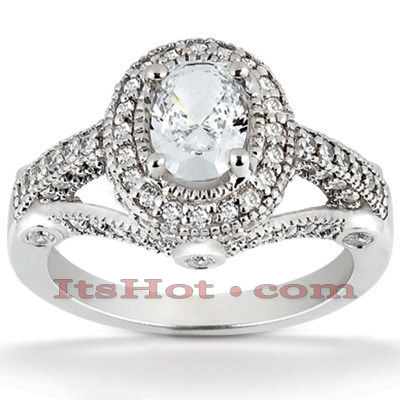 Diamond Platinum Engagement Ring 1.77ct Main Image