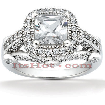 Diamond Platinum Engagement Ring 1.78ct Main Image